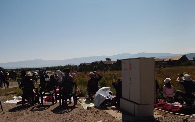 米国日食観測場所風景